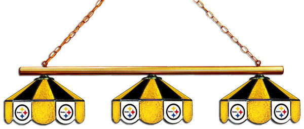 Pittsburgh Steelers NFL Stained Glass 3 Shade Pool Table Light - Gameroom Goodies Pool Table Lights