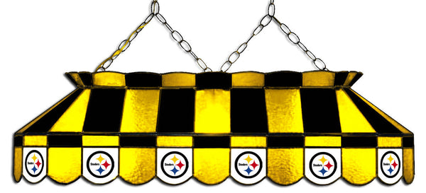 Pittsburgh Steelers NFL Stained Glass Pool Table Light - Gameroom Goodies Pool Table Lights