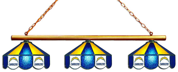 San Diego Chargers NFL Stained Glass 3 Shade Pool Table Light - Gameroom Goodies Pool Table Lights