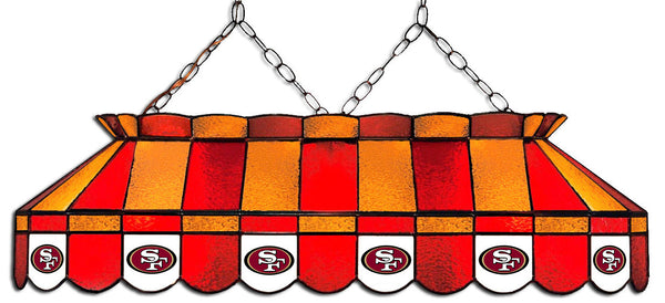 San Francisco 49ers NFL Stained Glass Pool Table Light - Gameroom Goodies Pool Table Lights