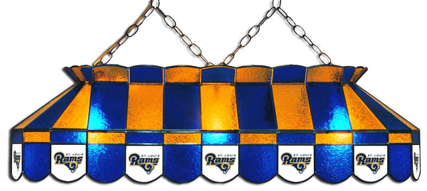 St Louis Rams NFL Stained Glass Pool Table Light - Gameroom Goodies Pool Table Lights