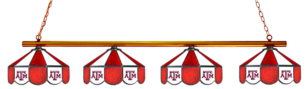 Texas A&M Aggies Stained Glass 4-Light Pool Table Light - Gameroom Goodies Pool Table Lights