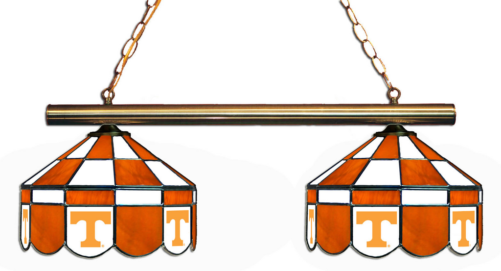 Tennessee Volunteers Stained Glass 2-Light Executive Game Table Light - Gameroom Goodies Pool Table Lights