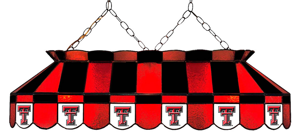 Texas Tech Red Raiders Stained Glass Pool Table Light - Gameroom Goodies Pool Table Lights