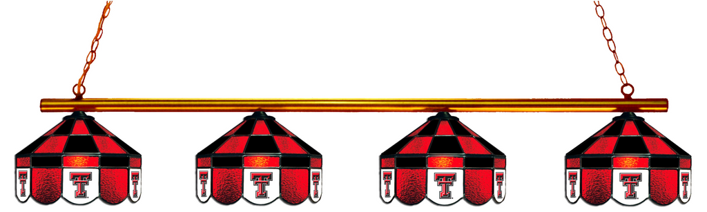 Texas Tech Red Raiders Stained Glass 4-Light Executive Pool Table Light - Gameroom Goodies Pool Table Lights