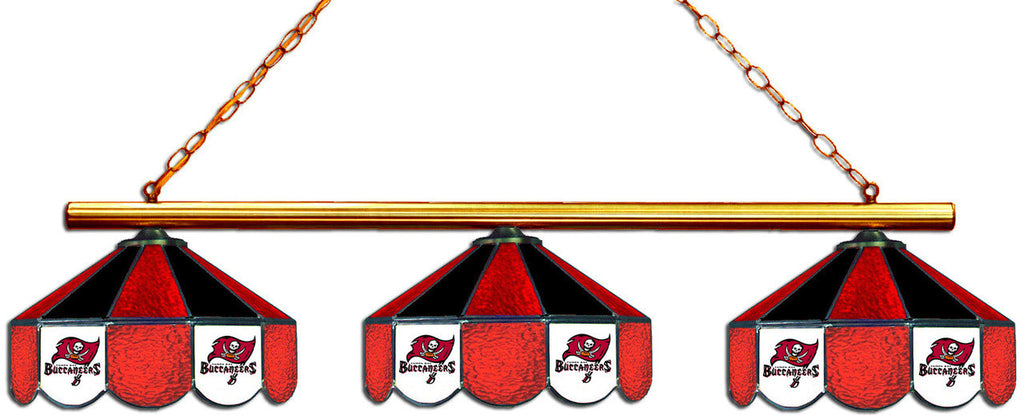 Tampa Bay Buccaneers NFL Stained Glass 3 Shade Pool Table Light - Gameroom Goodies Pool Table Lights