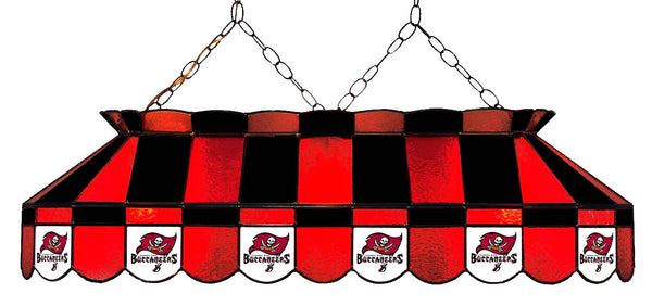 Tampa Bay Buccaneers NFL Stained Glass Pool Table Light - Gameroom Goodies Pool Table Lights