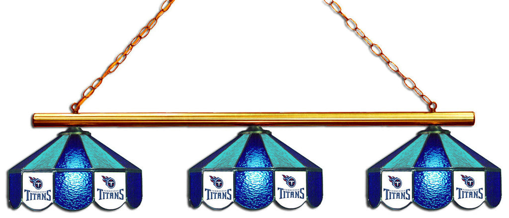 Tennessee Titans NFL Stained Glass 3 Shade Pool Table Light - Gameroom Goodies Pool Table Lights