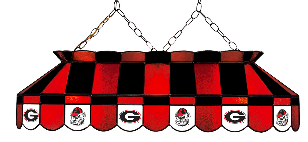 Georgia Bulldogs Stained Glass Pool Table Light - Gameroom Goodies Pool Table Lights