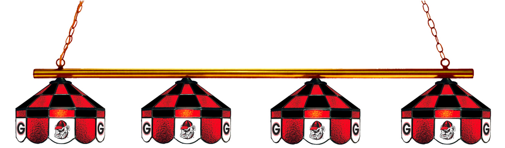 Georgia Bulldogs Stained Glass 4-Light Executive Pool Table Light - Gameroom Goodies Pool Table Lights