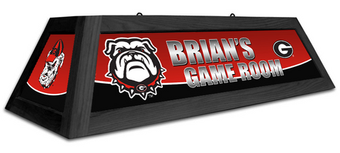 Georgia Bulldogs Custom Pool Table Light - Gameroom Goodies Pool Table Lights