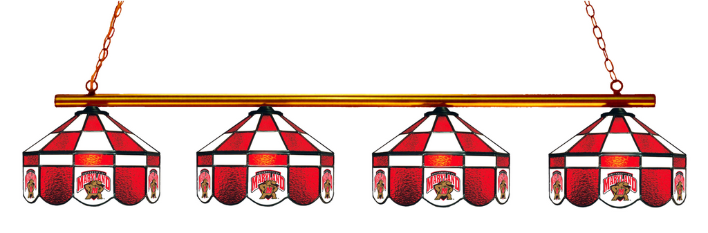 Maryland Terrapins Stained Glass 4-Light Executive Pool Table Light - Gameroom Goodies Pool Table Lights