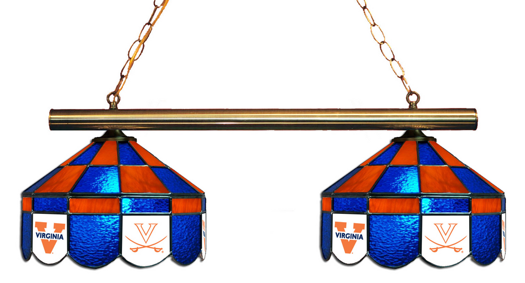Virginia Cavaliers Stained Glass 2-Light Executive Game Table Light - Gameroom Goodies Pool Table Lights
