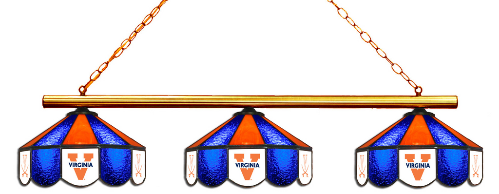 Virginia Cavaliers Stained Glass 3-Light Game Table Light - Gameroom Goodies Pool Table Lights