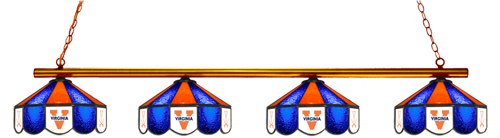 Virginia Cavaliers Stained Glass 4-Light Pool Table Light - Gameroom Goodies Pool Table Lights
