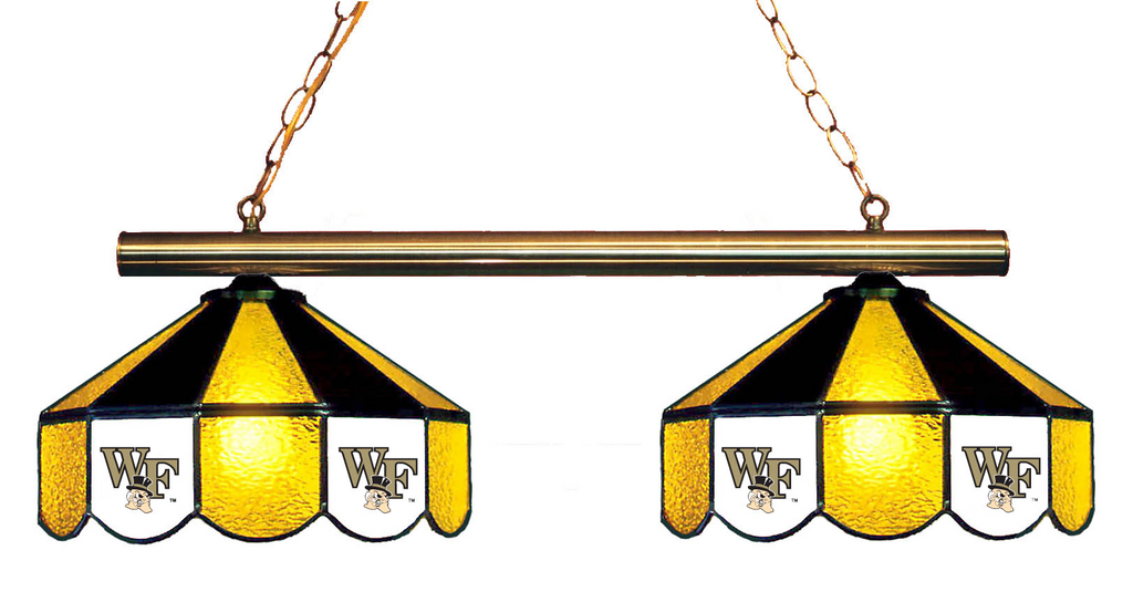 Wake Forest Demon Deacons Stained Glass 2-Light Game Table Light - Gameroom Goodies Pool Table Lights