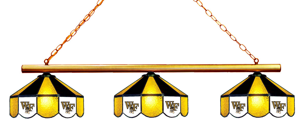 Wake Forest Demon Deacons Stained Glass 3-Light Game Table Light - Gameroom Goodies Pool Table Lights