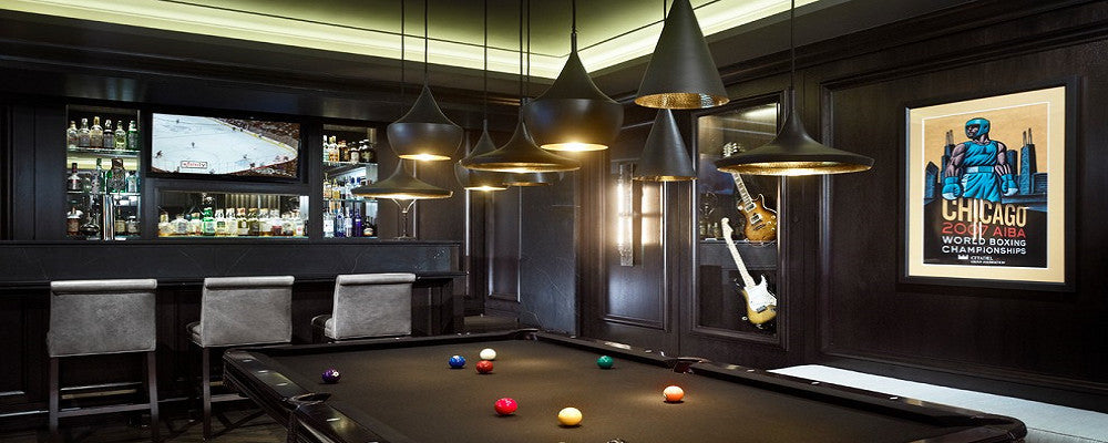 Contemporary Pool Table Light