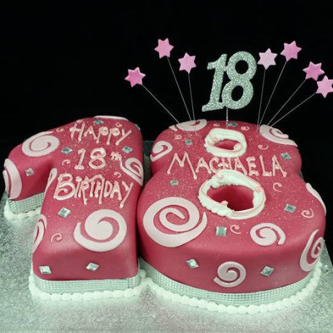 18th Birthday Numbered Cake