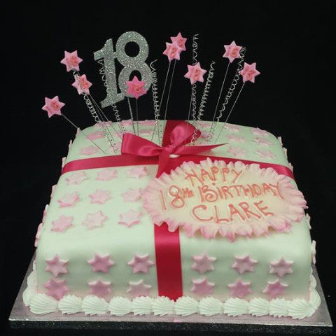 Terrific 18Th Birthday Cake Pink Celticcakes Com Personalised Birthday Cards Veneteletsinfo