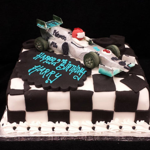 Racing Car Childrens/Birthday Cake
