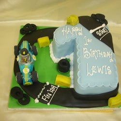 1st Racing Driver Numbered Birthday cake