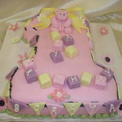 1st Teddy Bear  Numbered Birthday cake