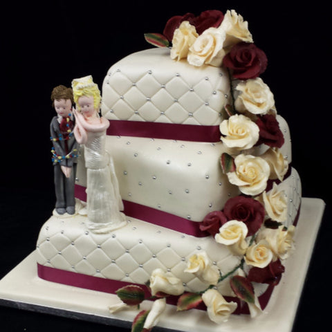Large 3 Tier Wedding Cake