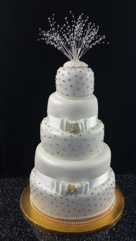 5 Tier Diamante Wedding Cake