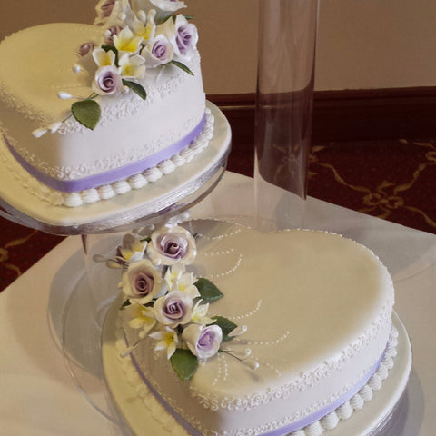 3 Tier Heart Wedding Cake//