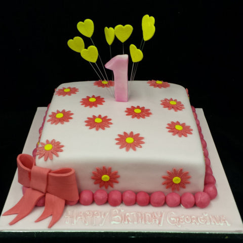Childrens Flower Birthday Cake