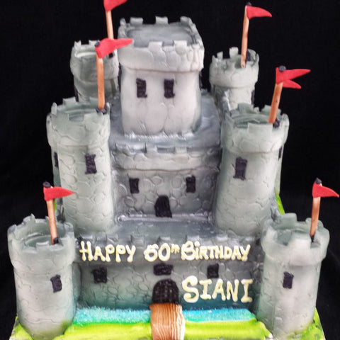 2 Tier Castle Birthday Cake