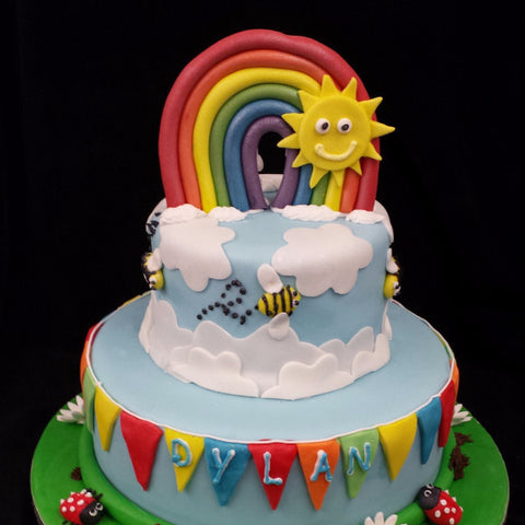 Childrens Rainbow Birthday Cake