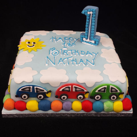 Cars  Birthday Cake - UK DELIVERY
