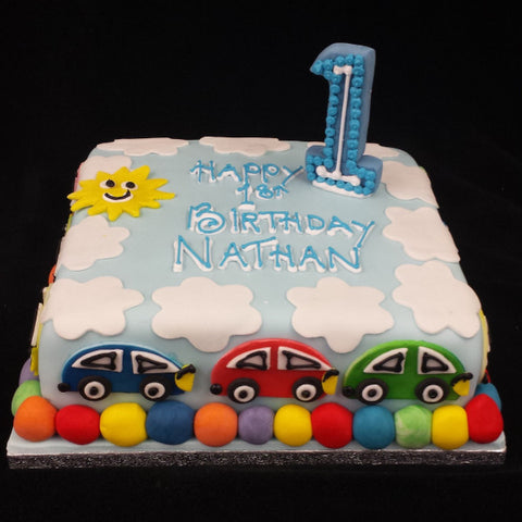 Colouful Childrens Birthday Cake
