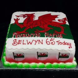 Welsh Flag Birthday Cake - UK DELIVERY
