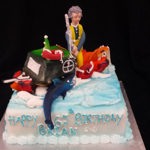 Terrific Fisherman Birthday Cake Celticcakes Com Funny Birthday Cards Online Elaedamsfinfo