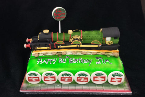 Admirable King George V Steam Train Birthday Cake Celticcakes Com Funny Birthday Cards Online Fluifree Goldxyz