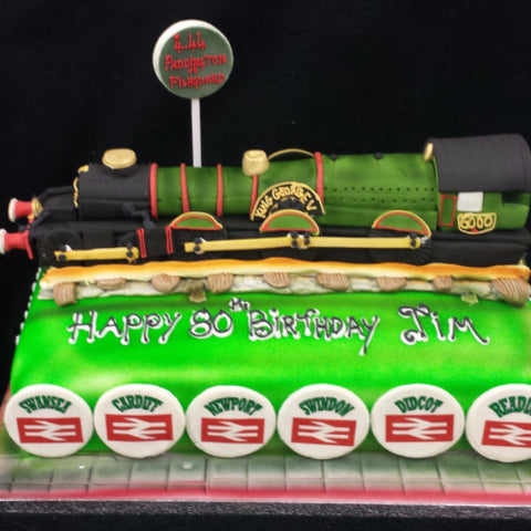 King George V Steam Train Birthday Cake