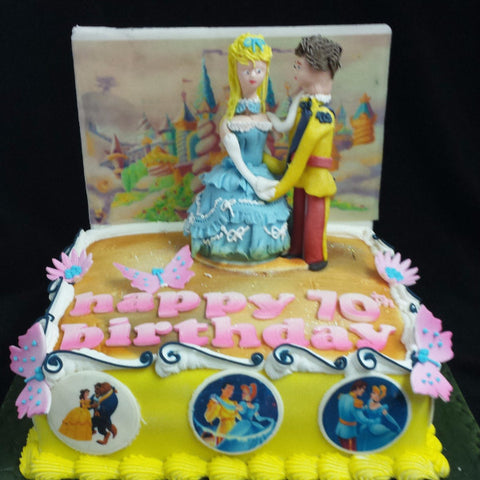 Princess & Prince Charming  Birthday Cake