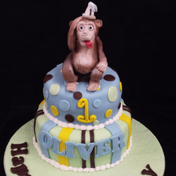 Two Tier Monkey Cake