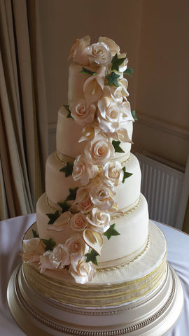 4 Tier Roses & Calla Lillies// Wedding Cake
