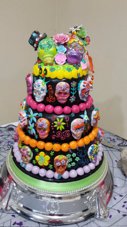 Mexican Day Of The Dead Wedding Cake