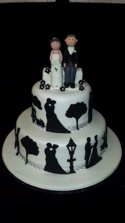 2 Tier Bride & Groom Wedding Cake