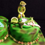 60th Fisherman Birthday Cake