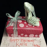 Shoe Box Birthday Cake//