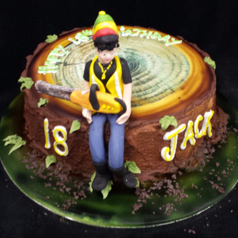 Tree Surgeon Birthday Cake