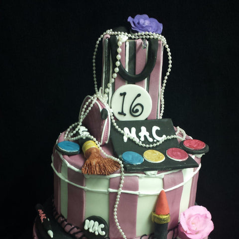 2 Tier Makeup  Birthday Cake