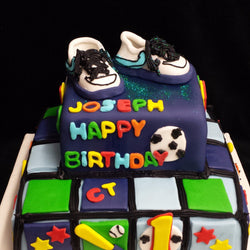 2 Tier Boys Children's  Birthday Cake