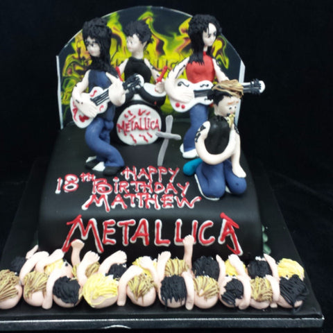 Metallica Band  Birthday Cake
